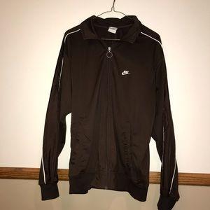 Nike brown zip up jacket